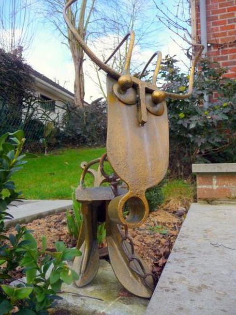 Sculptures m talliques christian delory - Decoration jardin ottignies ...